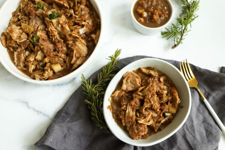 Apple butter and juicy pork come together to create a seriously delcious meal.