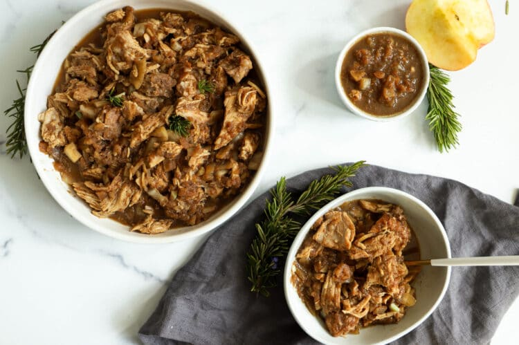 This slow cooker apple butter pork will make you kitchen smell amazing.