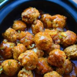Slow Cooker Buffalo Turkey Meatballs