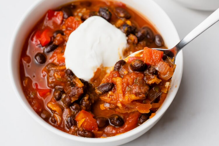 This pumpkin chili will warm you up and fill your belly!