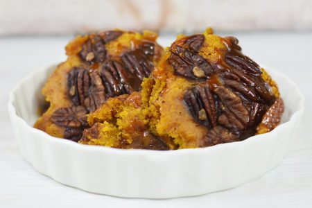 Slow Cooker Pumpkin Pecan Cobbler