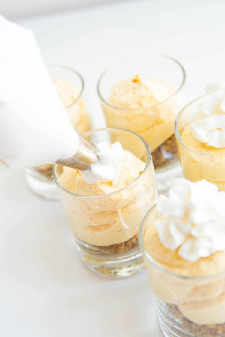 We portioned our cheesecake shooters into the perfect serving size!
