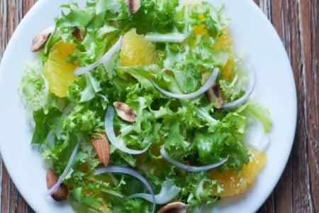 Almond Orange Frisée Salad