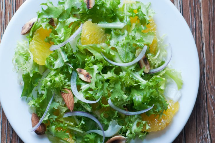 Almond Orange Frisée Salad