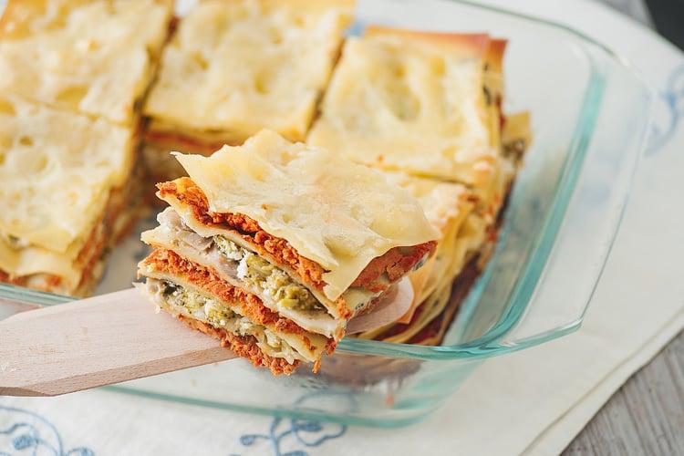 freezer recipe broccoli rabe and turkey sausage lasagna