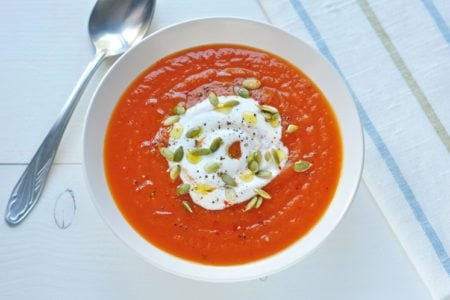 Carrot Soup with Pumpkin Seeds