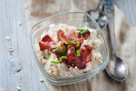 Savory Turkey Bacon Oatmeal