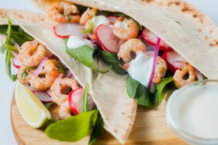 Shrimp Taco Pita Pocket