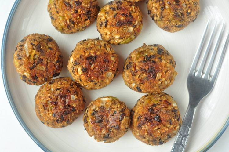 Southwestern (Meatless) Meatballs