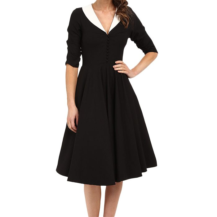 Vintage 3/4 Sleeve Eva Marie Swing Dress
