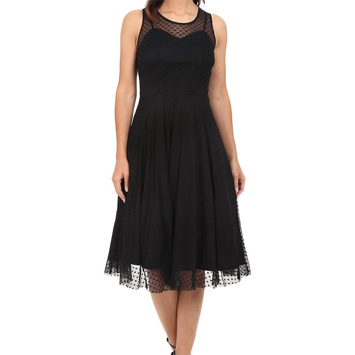 Vintage Mesh High Society Swing Dress