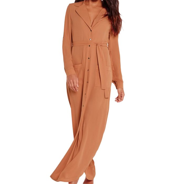 Wrap Around Maxi Shirt Dress