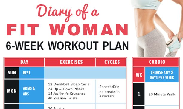 Of A Fit Woman Week Workout Calendar