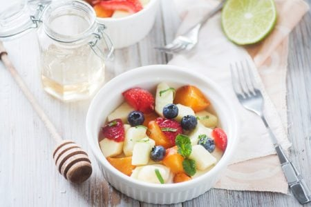 Honey Mint Fruit Salad