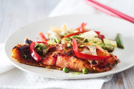 Pan Seared Salmon with Thai Vegetables