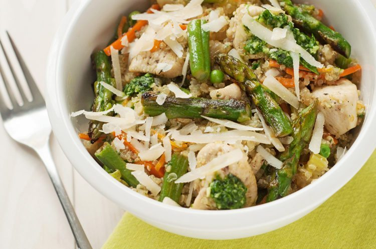 Slow Cooker Chicken And Spring Vegetable Quinoa