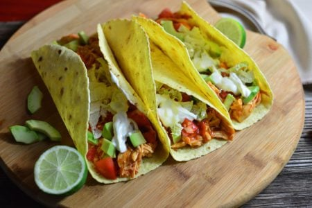 Slow Cooker Protein Chicken Tacos