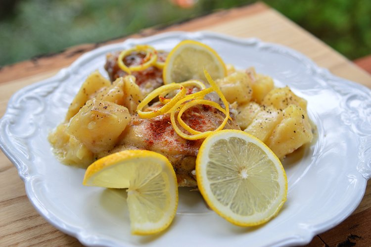 Slow Cooker Lemon and Potato Chicken