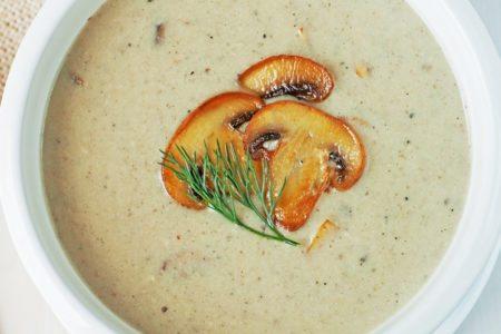 Slow Cooker Mushroom Soup