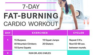 7day fat burning cardio workout