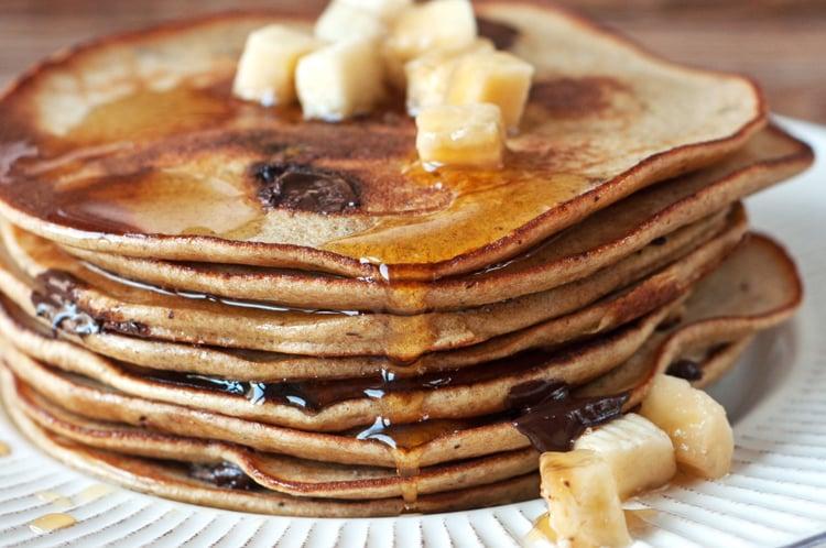 Chocolate Chip Workout Pancakes