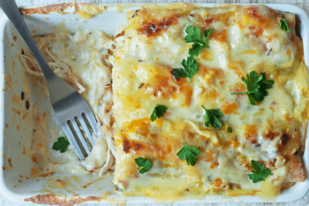 Skinny White Chicken Enchiladas