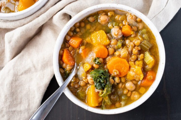 This slow cooker fully loaded lentil stew is made with incredibly nutritious ingrediens.