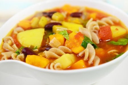 Slow Cooker Root Vegetable Minestrone Stew