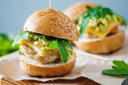 Turkey Burger with Avocado Relish