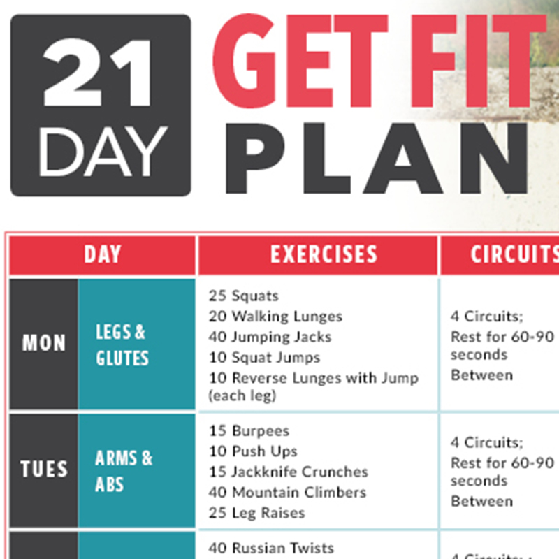 21 Day Get Fit Plan