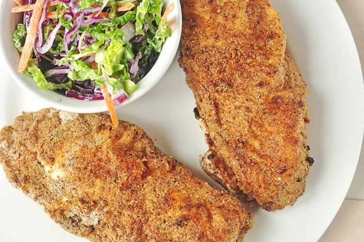 This delicious oven fried chicken is perfectly flavored and extra crunchy, making it an exceptional healthy comfort food meal.