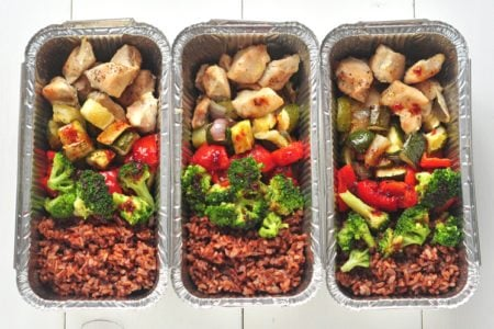 Individual Sweet & Sour Chicken Meal Prep