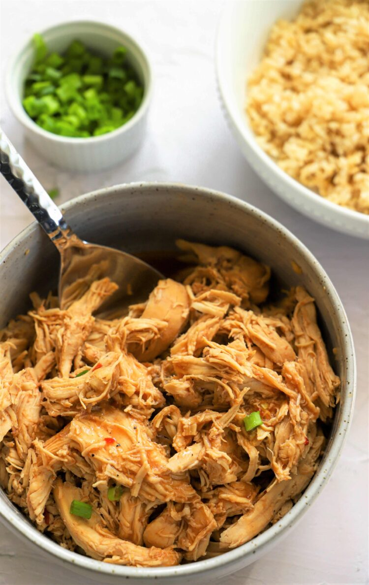 This slow cooker bourbon chicken is loaded with bold bourbon flavors.