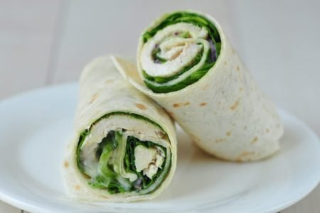 Turkey and Cucumber Salad Wrap