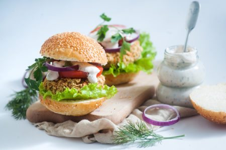 Buffalo Ranch Chickpea Burger