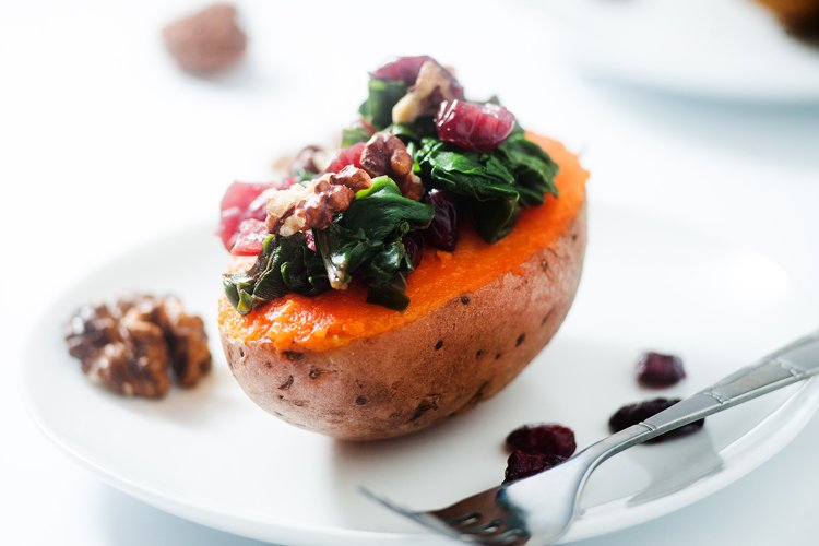 Instant Pot Loaded Baked Sweet Potato