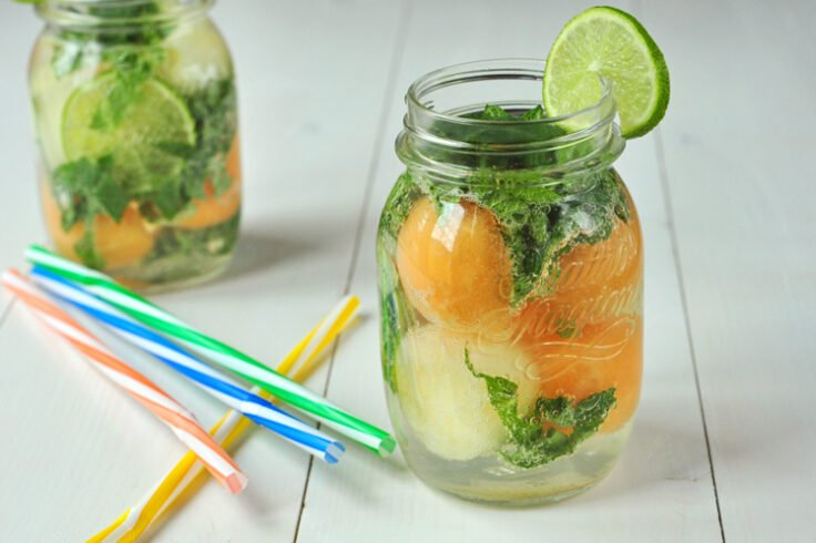 Try our melon ball cooler to hydrate this summer!