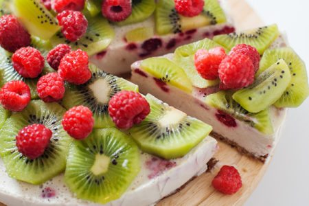 Raspberry Kiwi Lime Cake