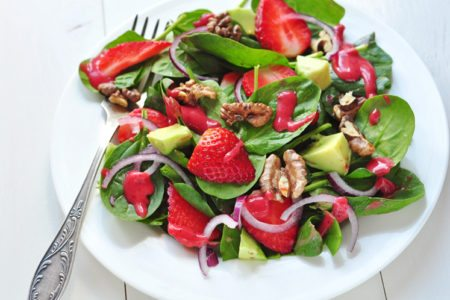 Strawberry, Avocado, and Spinach Salad