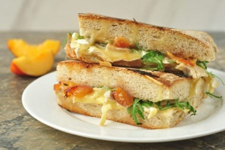 Turkey, Brie, and Peach Panini
