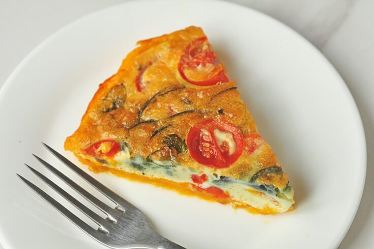 Veggie Quiche with Spaghetti Squash Crust