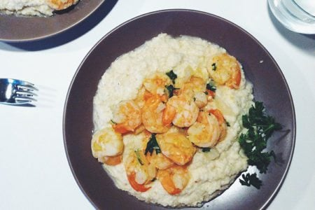 Paleo Creole Shrimp with Cauliflower Grits