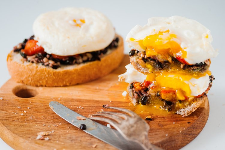 Black Bean and Egg Southwest Toast