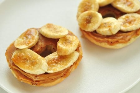 Bruleed Banana and Peanut Butter Bagel