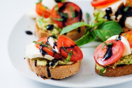 Caprese and Smashed Avocado Toast