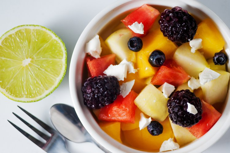 Melon Berry Salad with Feta