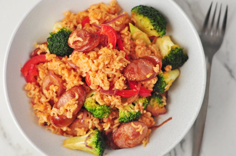 One Pan Smoked Sausage and Rice