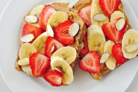 Whole Grain Peanut Butter and Fruit Toast