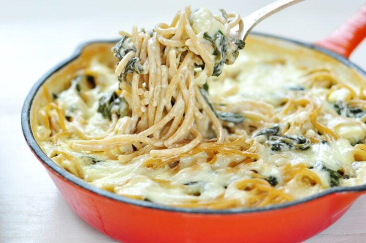 spinach & pasta alfredo