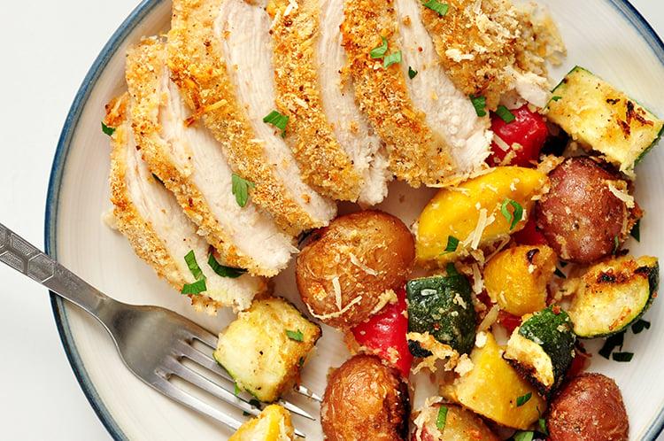 Parmesan Chicken & Veggie Bake